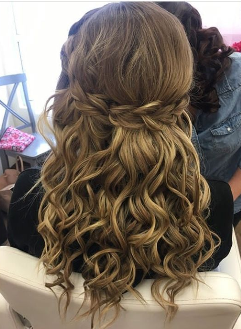 Braided Half Down Hair Style
