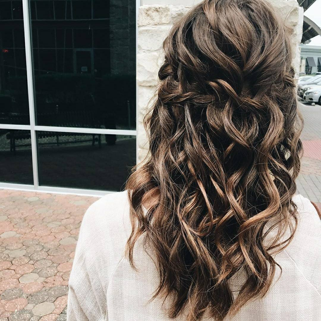 Textured Half Up Half Down Braid