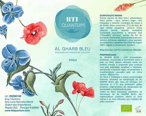 AL GHARB BLEU - Nutracêutico hidratante para o corpo