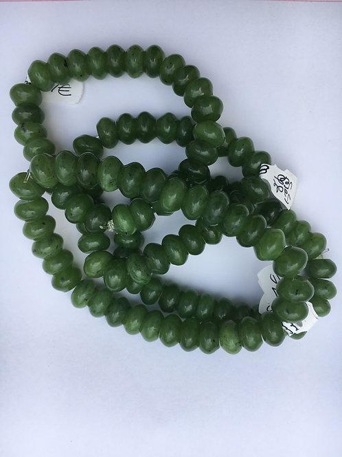 Bracelete de Jade verde oval 10mm