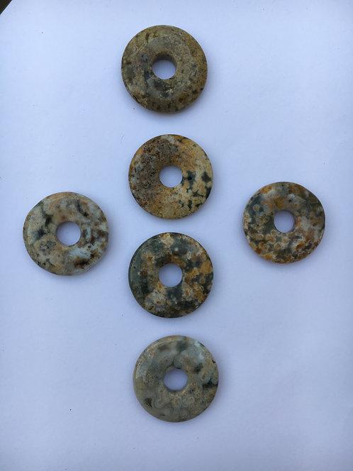 Donut de Jaspe Oceânico para pingente de 21 mm