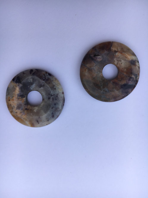Donut de Fluorita Opala para pingente de 21 mm