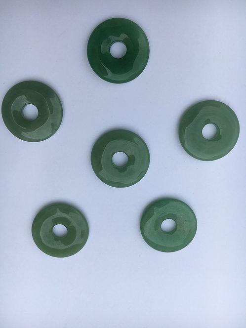 Donut de Aventurina para pingente de 21mm