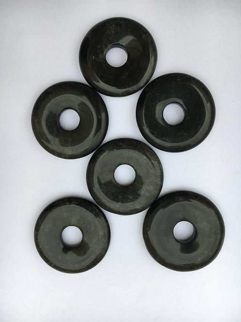 Donut de Obsidiana negra para pingente de 21mm