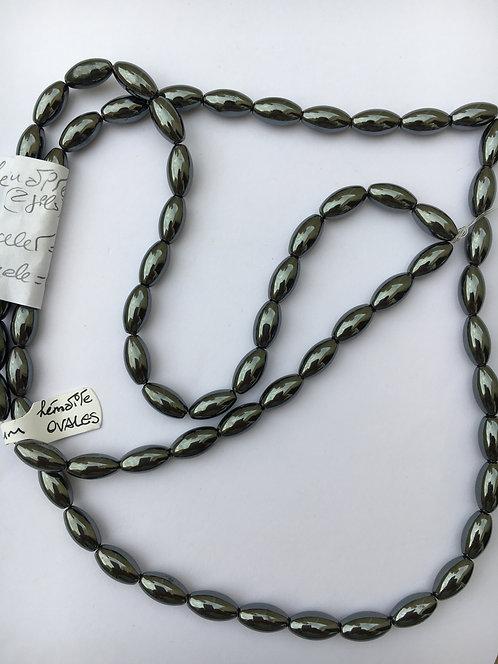 Bracelete de Hematita oval 6mm
