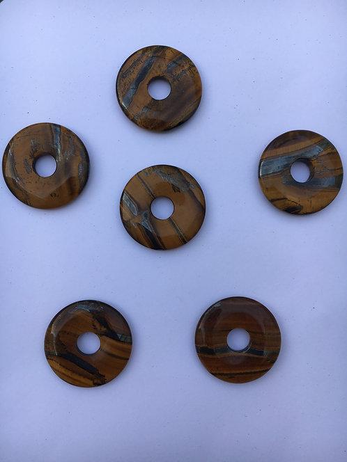 Donut de Olho de Tigre África para pingente de 21 mm