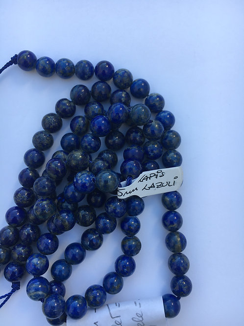 Bracelete de Lápis-lázuli 7.5-8.0 mm e 10mm