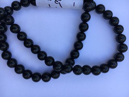 Bracelete de Turmalina negra 7mm