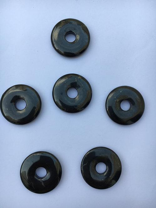Donut de Shungita para pingente de 21 mm