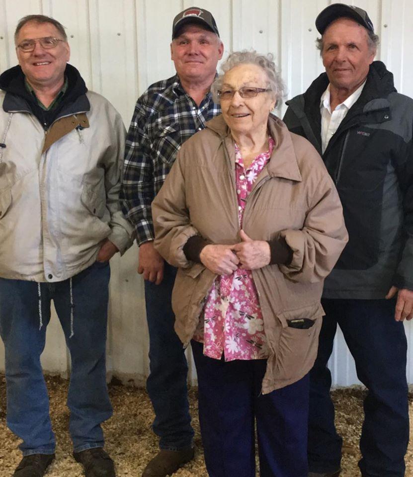 Grandma with John, Gary, Calvin