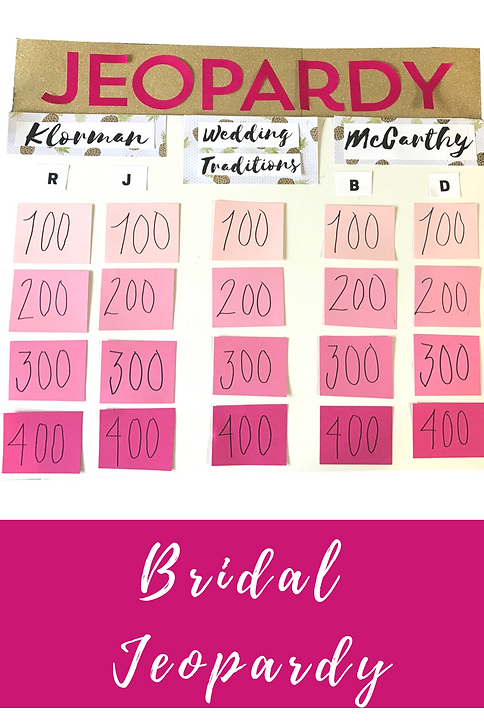 bridal jeopardy questions