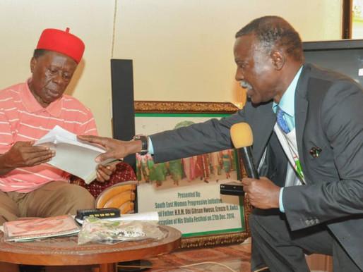 The Igwe of Awka (H.R.M) OBI GIBSON NWOSU endorses the right to food bill