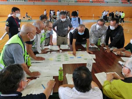 マイ・タイムライン及び避難所開設・運営訓練を実施しました