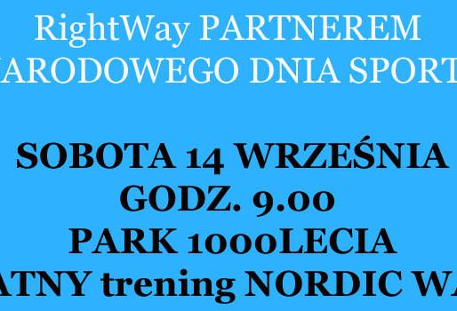 14.09 BEZPŁATNY trening nordic walking - Narody Dzień Sportu
