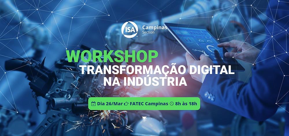 Workshop: Transformação Digital na Indústria. Inscreva-se Gratuitamente.