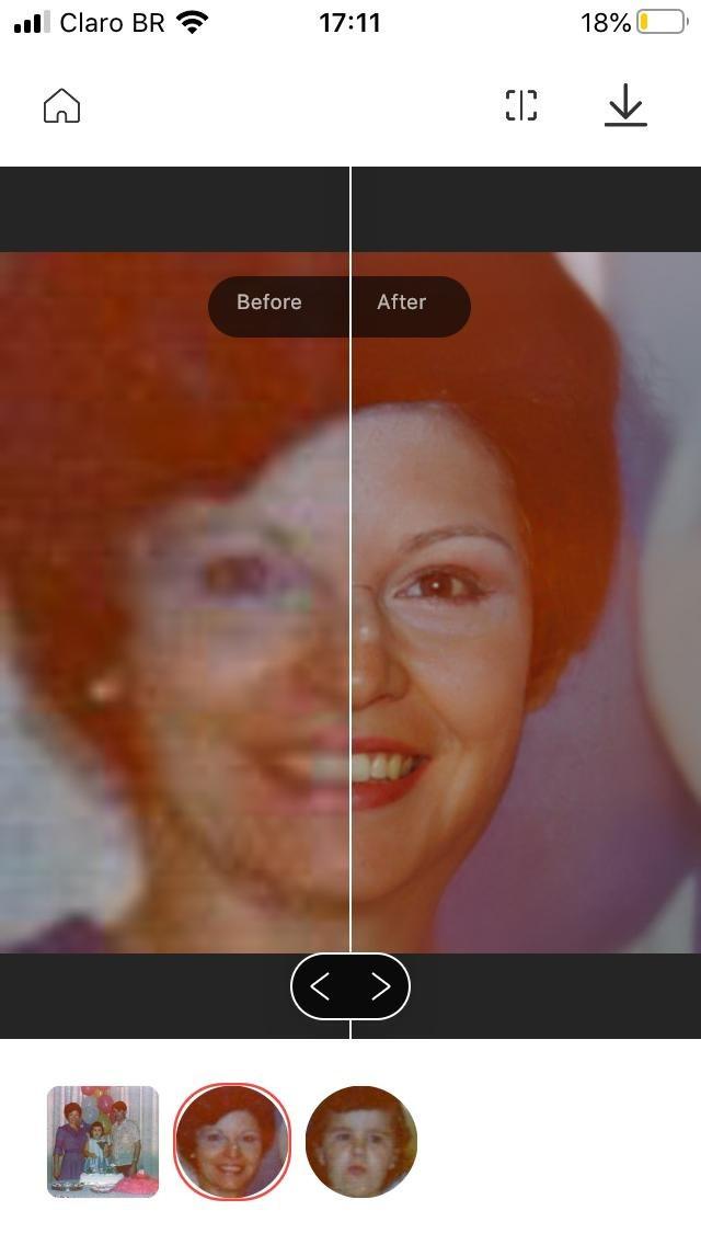 Fotografia de aniversário infantil para uso do aplicativo Remini para recuperação de foco e nitidez da fotografia.
