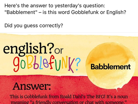 Babblement a Noun-Gobblefunk not English