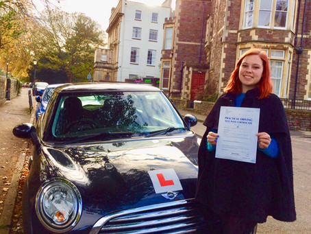 Congratulations Rosie on passing First Time and so well!