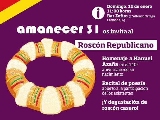 "Acto cultural ""Roscón Republicano 2020"""