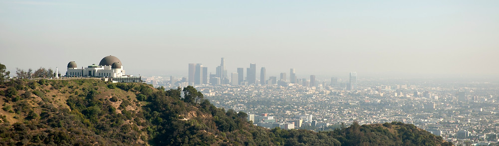 smog & air pollution in the Los Angeles skyline