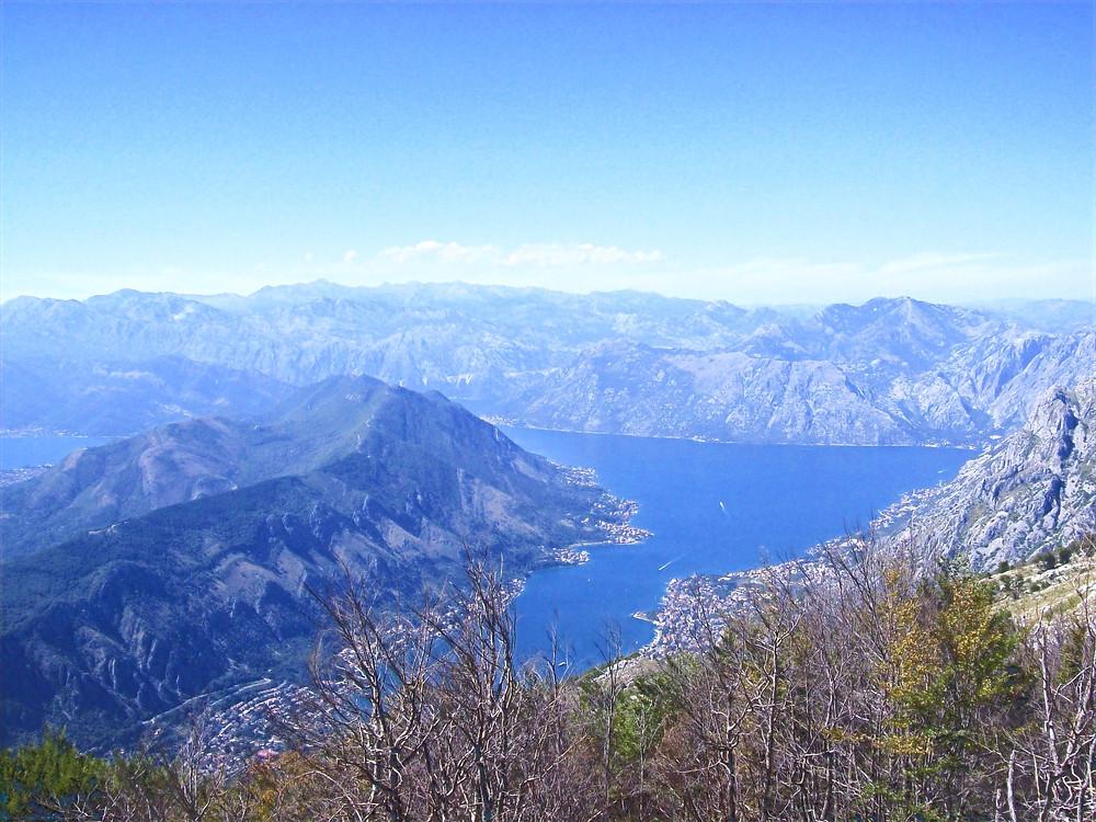Vista dal Monte Lovcen, Parco Nazionale a Montenegro