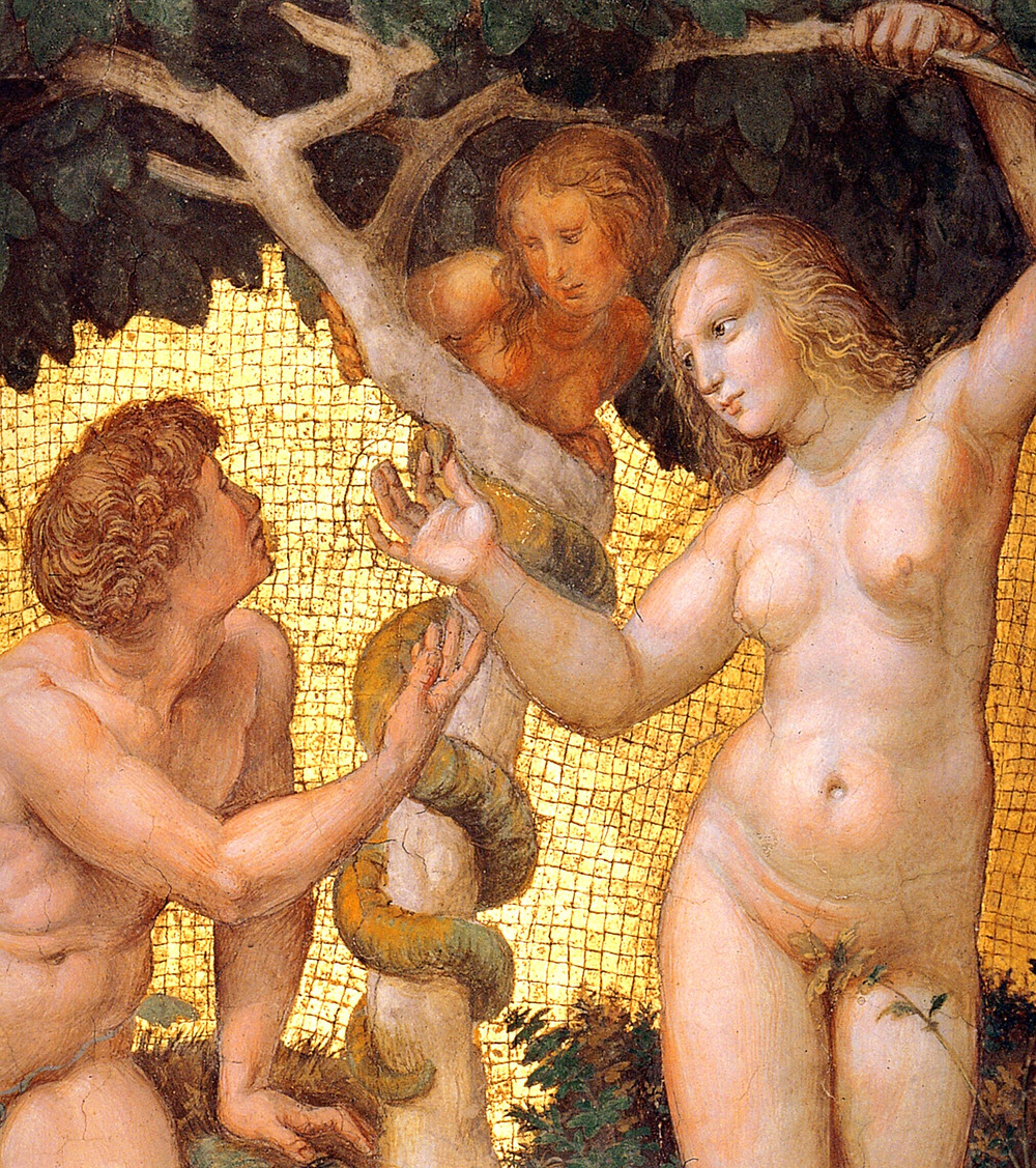 Raphael, Adam and Eve, from the 'Stanza della Segnatura', 1508-1511