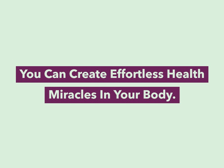 The daily awareness of your own power is the stuff of which health miracles are made in your body.