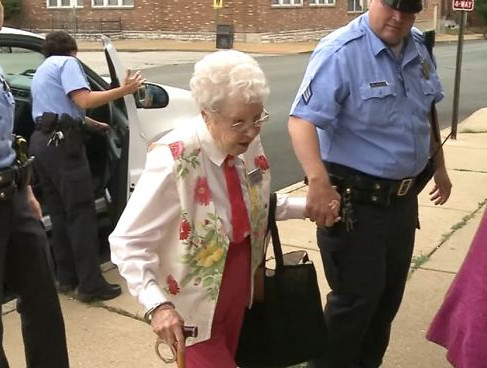102-Year-Old Grandma Checks 'Getting Arrested' Off Her Bucket List