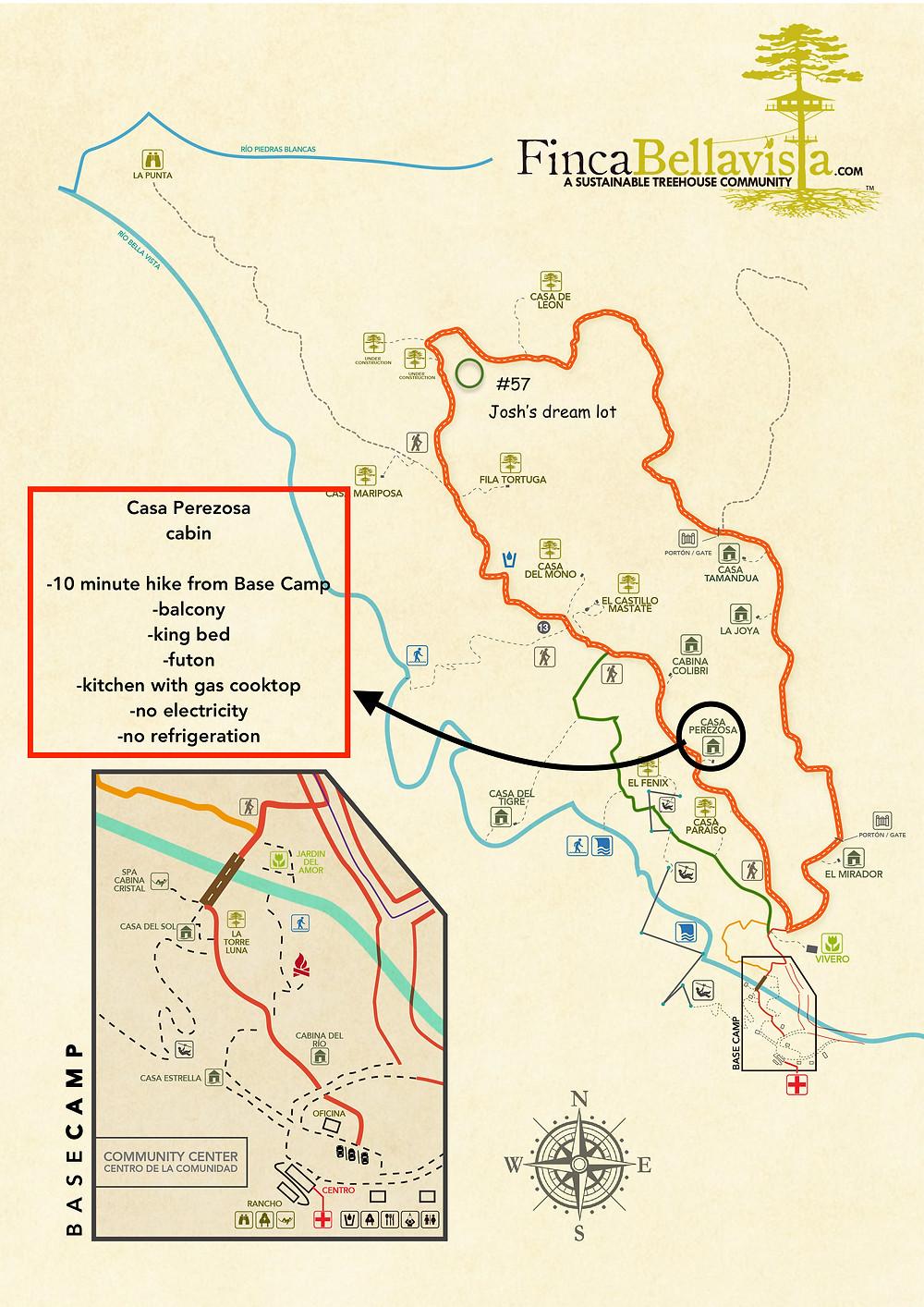 Map at Finca Bellavisa