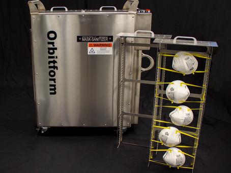 Article:  Orbitform Medical building N95 mask-sanitizer machine for hospitals