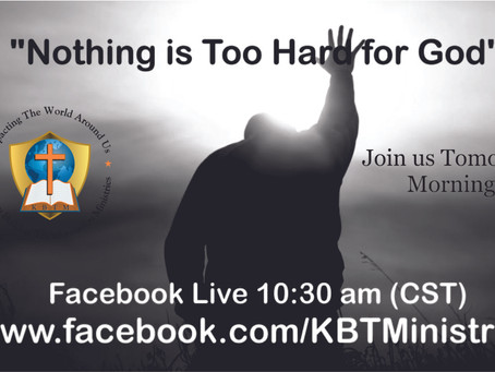 Join us at 10:30 am (cst) on Facebook Live
