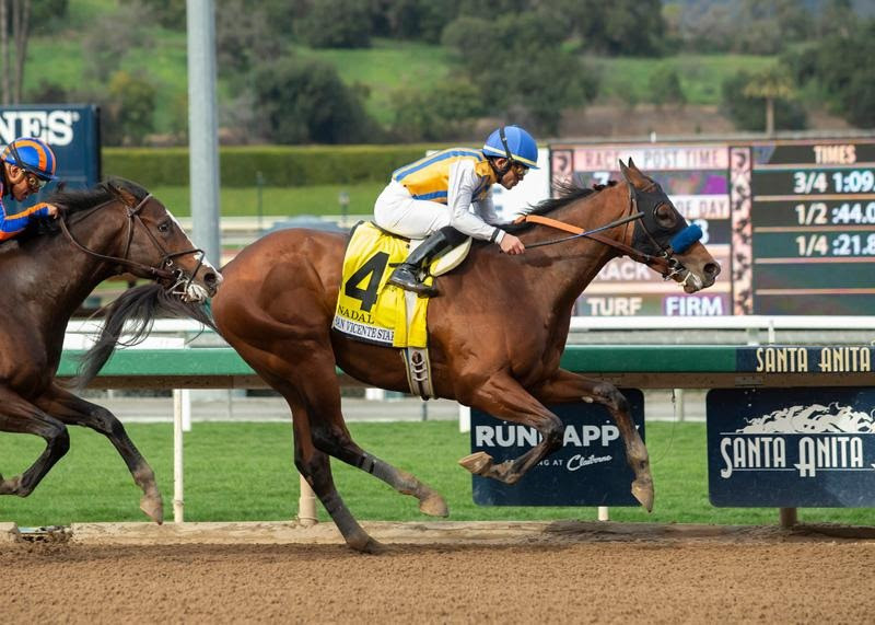Nadal named after Tennis Player wins San Felipe Stakes