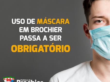 A partir de agora, o uso de máscaras é obrigatório