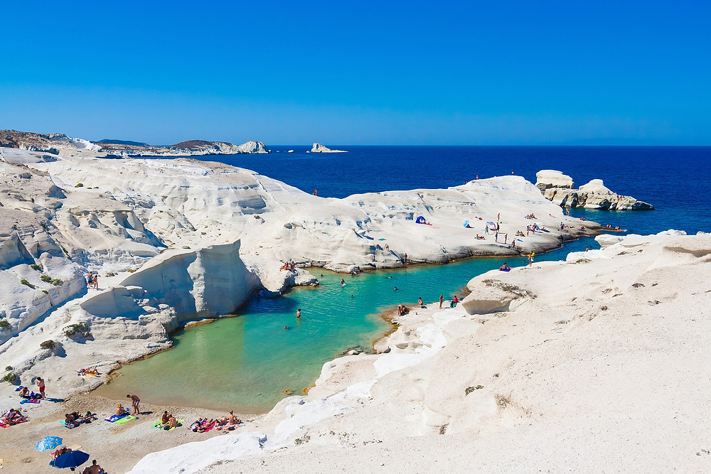 Sarakiniko Beach Milos Greece