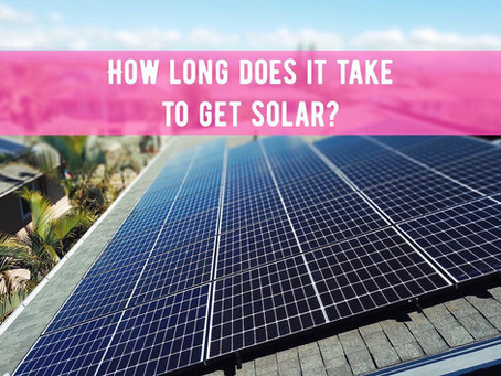 How long does it take to get solar pv?
