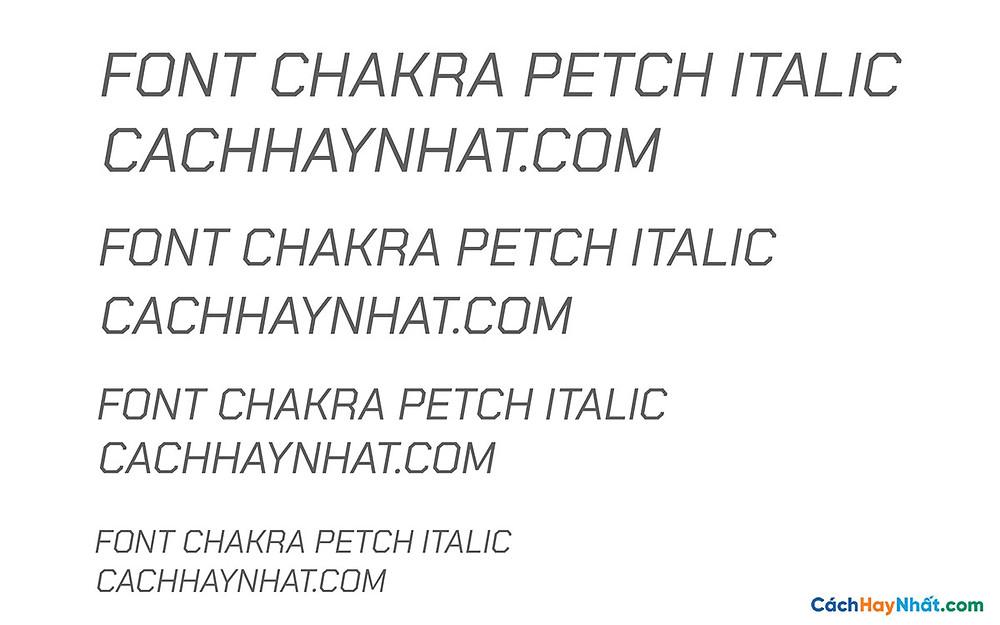 Font Chakra Petch Italic