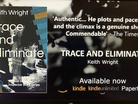 COMING SOON to Audible and iTunes 'Trace and Eliminate.' Keith Wright's second crime thriller.