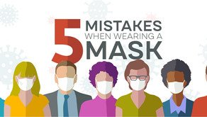5 mistakes people make when wearing face masks for Coronavirus