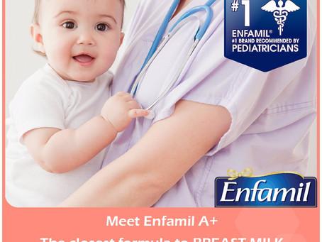 """Enfamil美國嬰兒奶粉品牌。號稱""""最接近母奶的奶粉"""""""