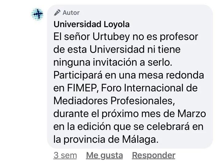 La respuesta de la Universidad, ante el repudio de un salteño. (Facebook)