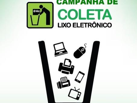 Município coleta resíduos eletroeletrônicos