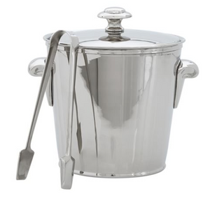 ice bucket, bar cart, interesting bar ideas, silver ice bucket