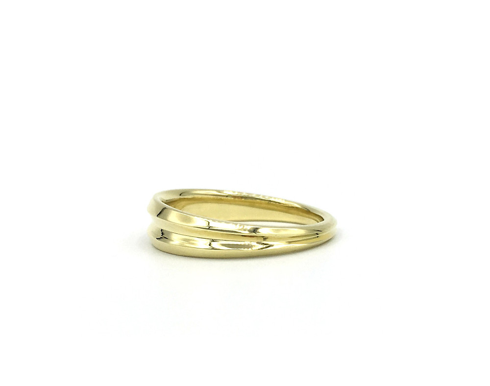 Tapered Band Stacking Ring in 18k Recycled Gold