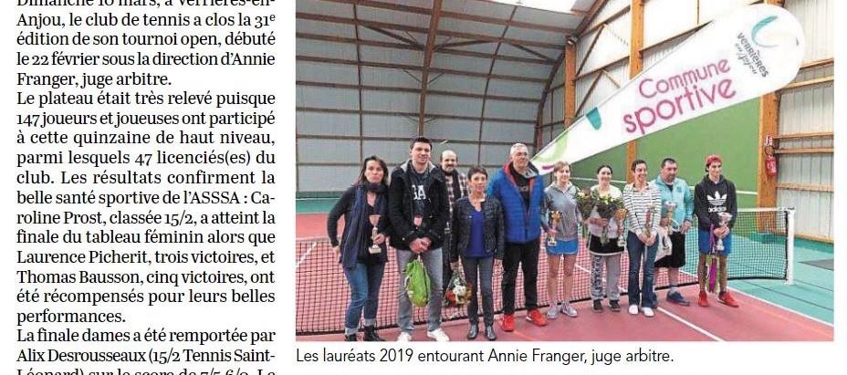 Victoire d'Alex Nouet au tournoi de l'ASSSA tennis !