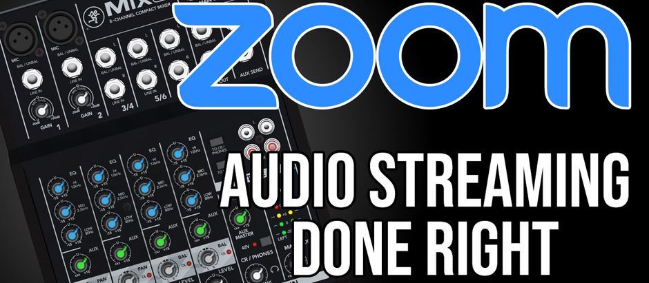Zoom for Dance & Music Classes - Pt. 1 : Using an External Mixer for Audio Streaming