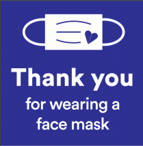 Thank you for wearing a face mask!
