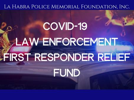 COVID-19 Law Enforcement First Responder Relief Fund