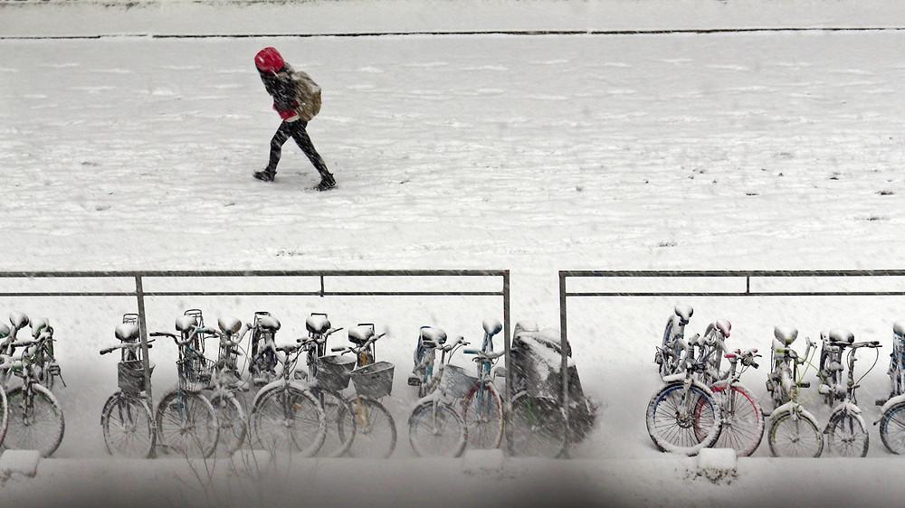 tempête de froid , chine , vague de froid , neige , glace