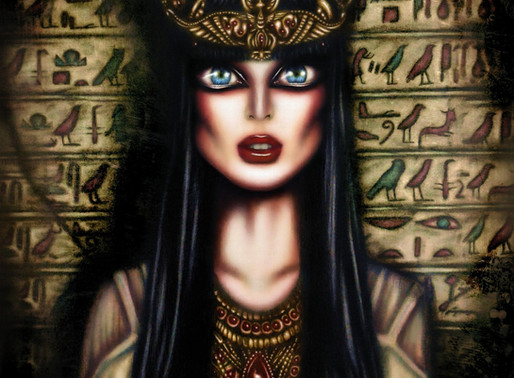 The Gaze of Queen Cleopatra Painting by Tiago Azevedo