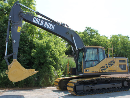 See The Volvo CE Gold Rush Excavator at Penn College on Sept. 5